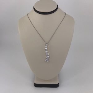 Jewelry - 7 CZ Stones Journey Necklace Sterling Silver 925